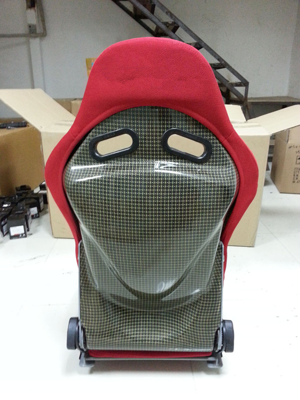 Carbon Fiber luxury auto seats ,Auto Racing Seat Red Fabric Adjustable Seats