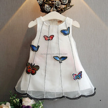 Latest kids frock designs pictures of White embroidered dresses frock design for baby girl