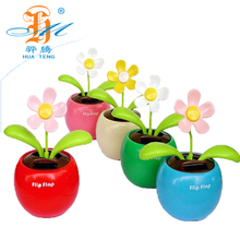 Wholesale car decorative mini flower powered solar dancing toys for sale