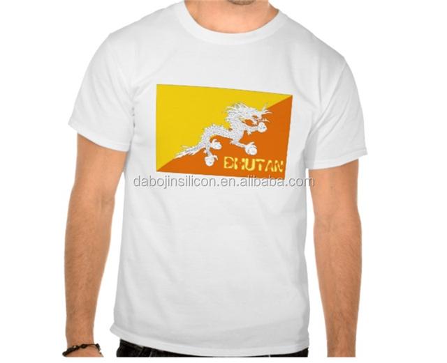 2016custom made all kinds of Bhutan flag T-shirt