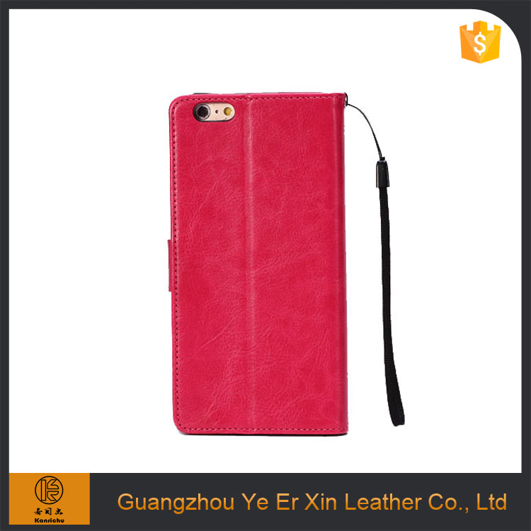 Free sample korean double private label leather cell phone case for iphone 6s/7/7 plus