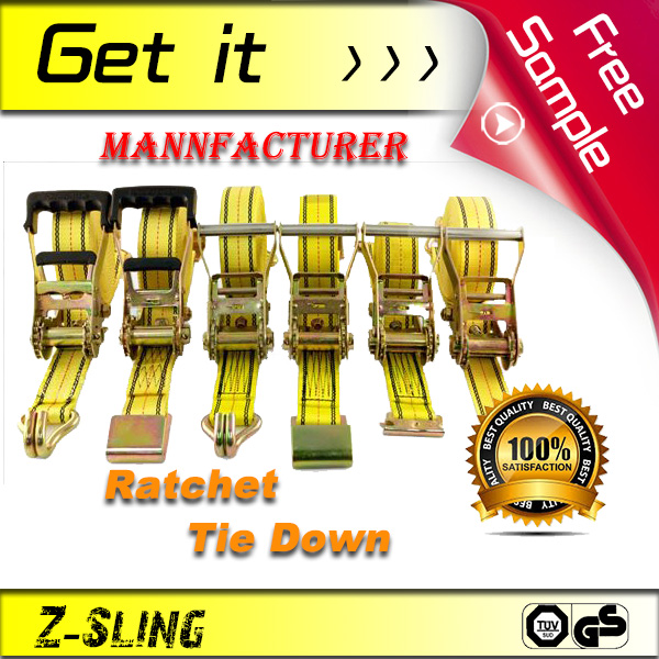 For ATVS USE, Z-Sling lashing straps, High Strength Rachet Tie Down