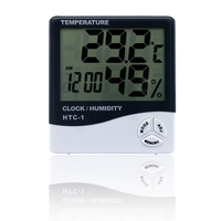 Big LCD Digital hydrometer with thermo clock HTC-1