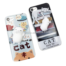 2017 Hot Sale 3D Cute Soft Silicone Squishy Cat Phone Cases