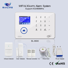 88 Wireless GSM WIFI Home Alarm system with TFT Screen APP Control 433/8687mhz wireless frequency burglar alarm system