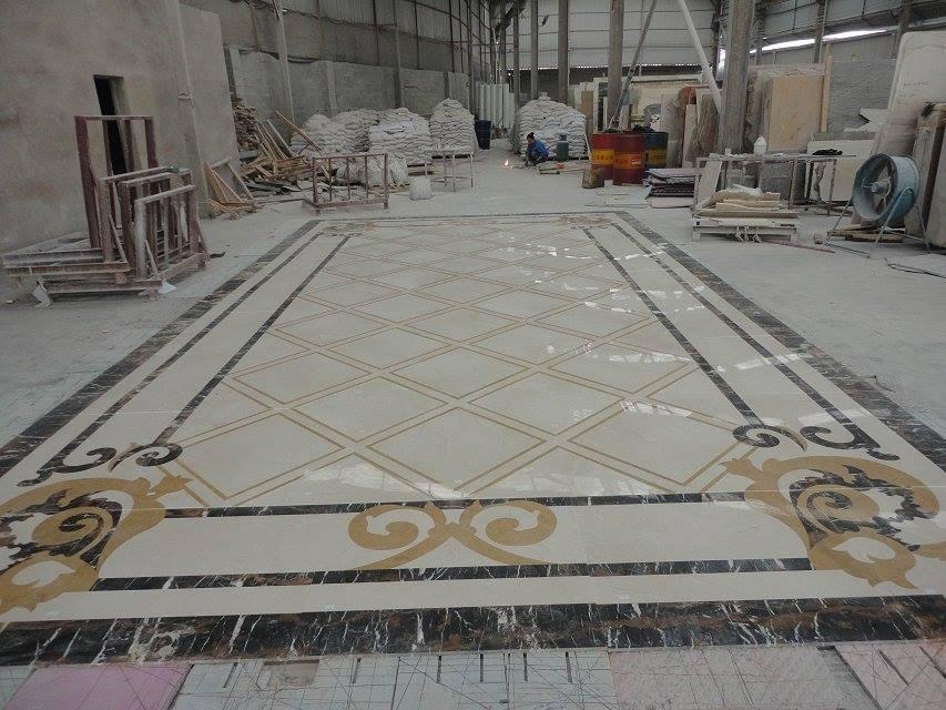 waterjet decorative marble hotel lobby floor tile - buy hotel