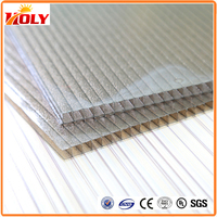 100% Bayer material waterproof tinted twin wall polycarbonate sheet with UV protection