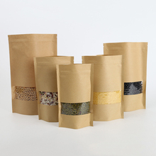 best price Food Grade Biodegradable Craft Paper Bag /kraft Paper Pouch With Window