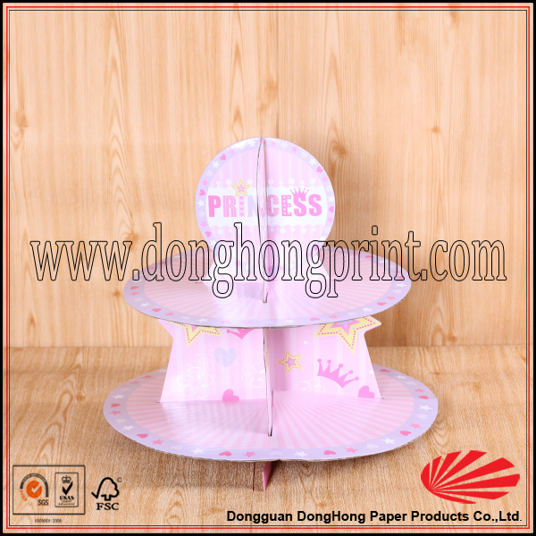 Printed paper wedding cake stand/Decorative folding cake stand/Competitive price cake stand