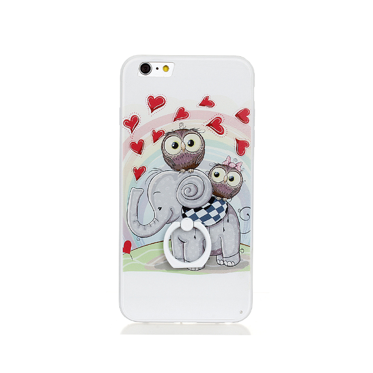 cheap Various patterns with ring holder bulk phone cases for iPhone 7plus