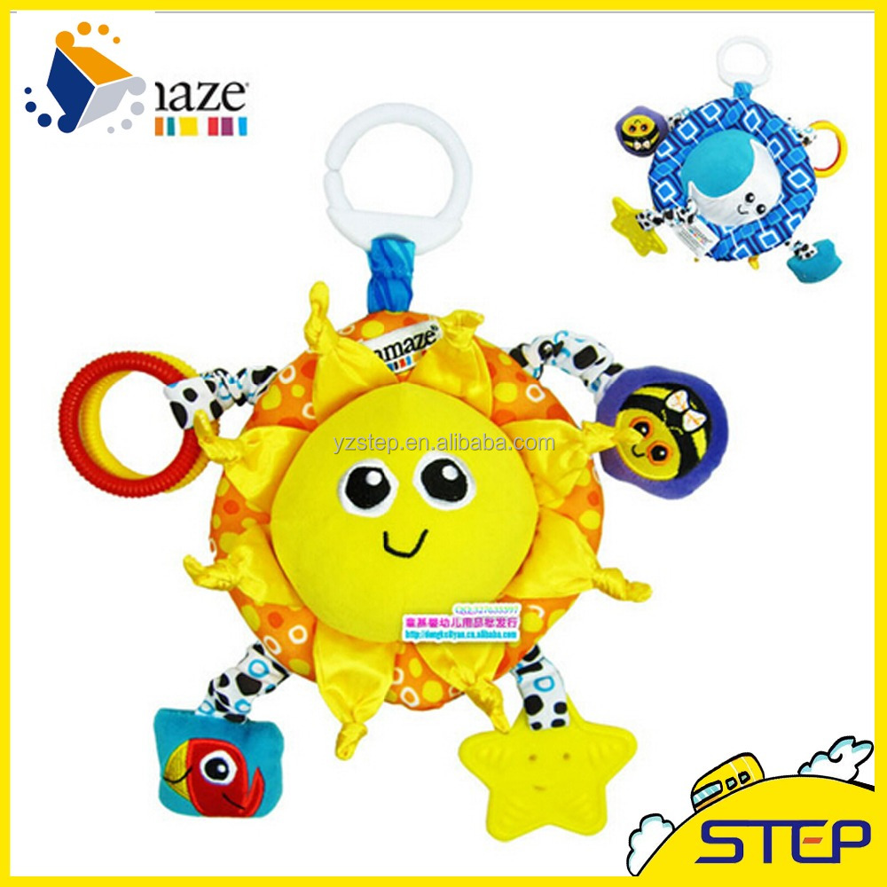 2016 Hot Selling Custom Cute Sunflower Baby Musical Hanging Bed Toy Baby Plush Toy ST1632613