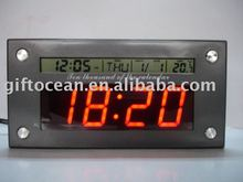LED clock & LCD calendar with birthday remind