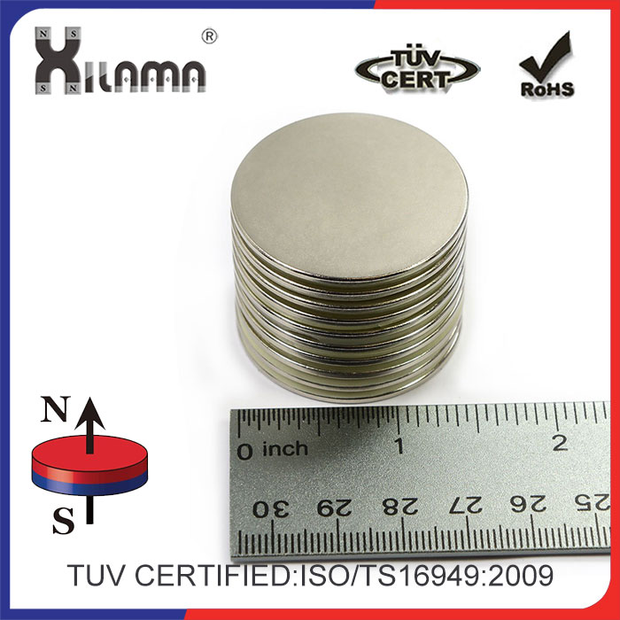 "Neodymium Magnets N45, 1.5"" D X 1/16"" Round Disc, (Ndfeb) Rare Earth Bulk of Permanent Magnets - 8.3 Lbs Pulling Force"