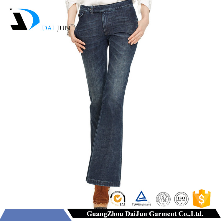 Daijun oem high quality open crotch garment factory denim trousers price manufactures