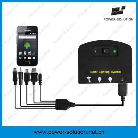 Mini 4w solar energy kit for africa 7.4v 2600mAh Lithium phone charger