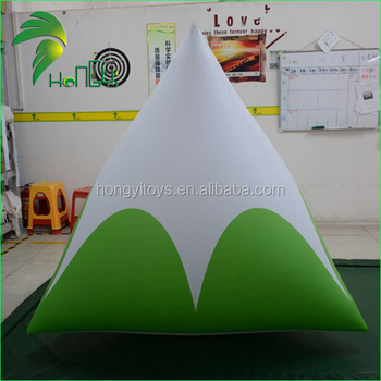 Giant Custom Swimming Marker Inflatable Buoys / Inflatable Triangle Buoy for Sale
