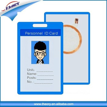 plastic access control card time attendance punch card