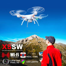 New Wifi Camera 2.4G 6-axis UFO Aircraft Gyro RC Drone 0.3MP HD Quadcopter with Camera SYMA X5SW-1
