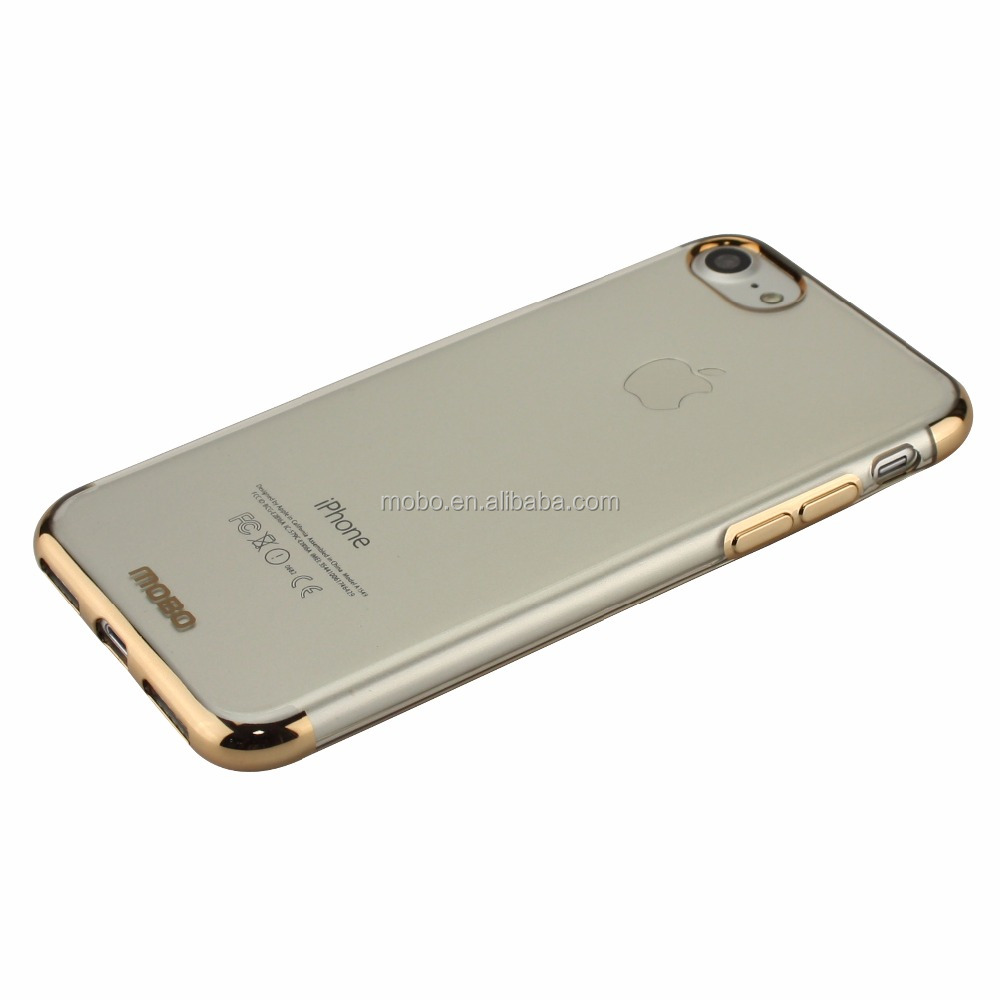 Luxury and high quality electroplating super slim TPU phone case for iPhone 7