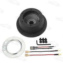 6 Bolt Black Steering Wheel Hub Adapter Boss Kit for Mustang f150 f350 f450 mazda2 c30 x-type