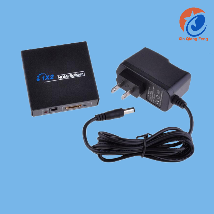 High speed HDMI Splitter 1x2 4k multimedia with power cable plug