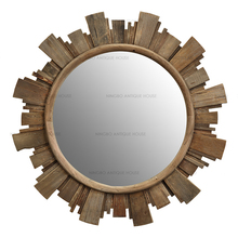 Antique Style Rustic Recycled Wood Vintage Furniture funny mirror