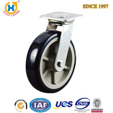 Hot Sale 8 inch Swiveling Heavy Duty PU Casters With Top Plate,Double Ball Bearing.