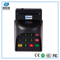 Swipe USB Magnetic stripe/chip msr Card Reader With Cover MHT-708
