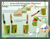 *New* Natural Bamboo Tube Dispenser for Poopoo bags
