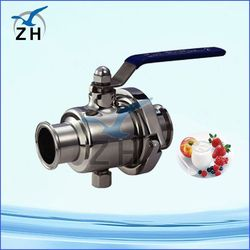 sanitary flange ball valve gear operated
