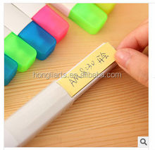 Highlighter marker pen with memo stickers
