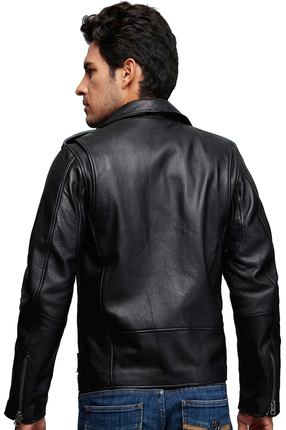 Wholesale Mens Black Biker Motorcycle Leather Jackets