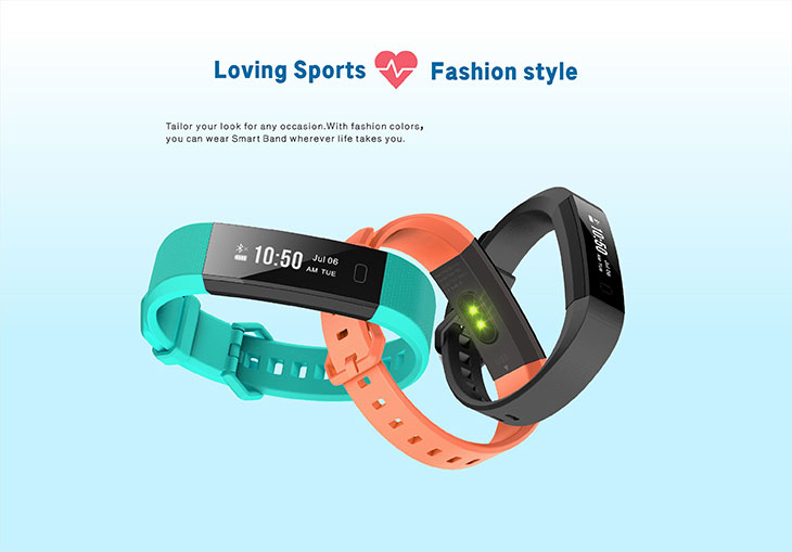 y11 Android new trending products smart bracelet heart rate monitor dayday band