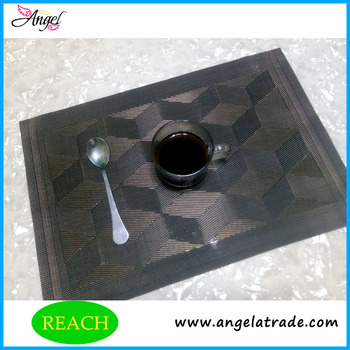 Angel decoration vinyl woven table mats