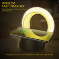 2018 gadgets mobile phone fast charger with led light wireless charger