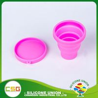 High level eco-friendly food grade silicone rubber drinking cup