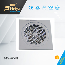 2015 small brass small square bathroom drains made china