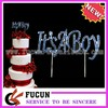 It's A Boy Cake Topper - Baby Shower Party Blue Silver Centerpiece Decoration