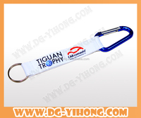 custom printed logo carabiner hook strap with key chains