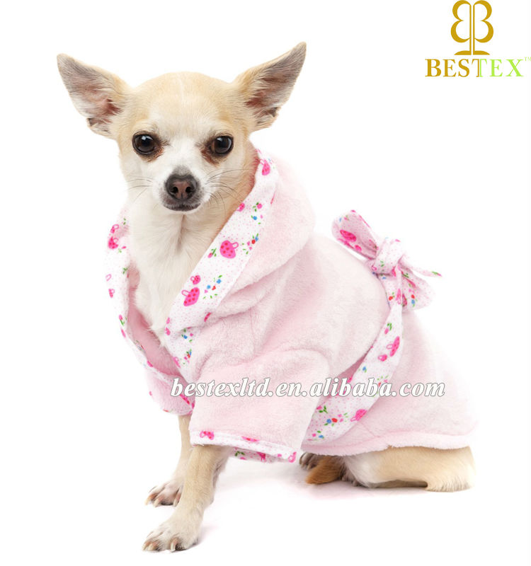 Wholesale New Chinese Factory pet towel Bath Robe Clothing for Dog