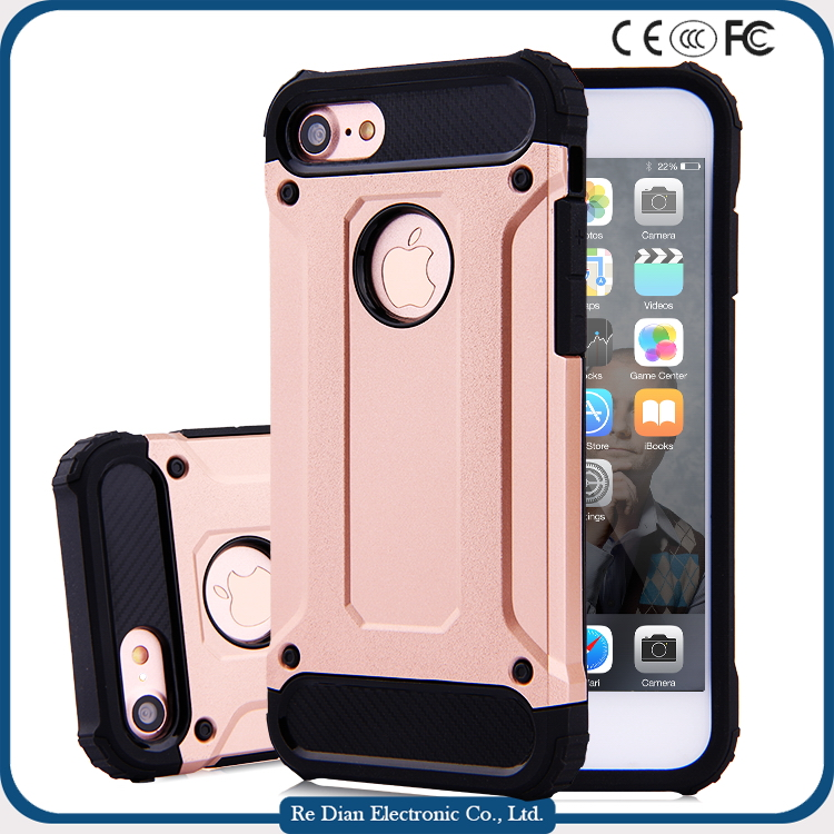 Frosted Transparent PC TPU Bumper Case strong cell phone case For iPhone 7