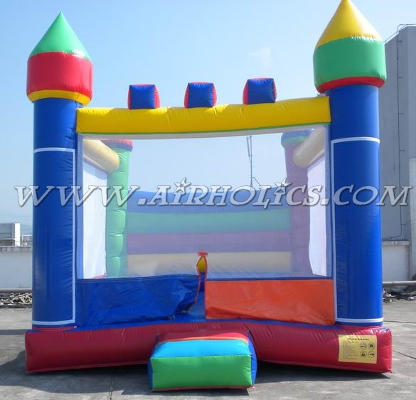inflatable bouncer with slide for children, outdoor playground