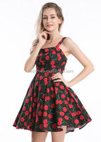 2014 wholesale checkout cheapest 40's 50's swing dress rockabilly Vintage style cherry dress