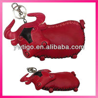 animal genuine leather coin purse for women