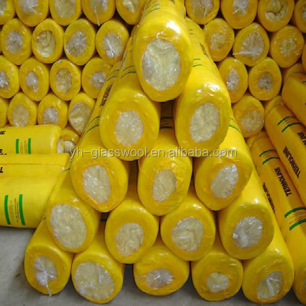 Glass wool with Aluminium foil insulation/fiber glass wool blanket with shrinkage warp pack