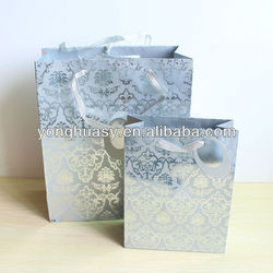 New design Silver stamping paper bag