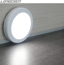 6 Led Night Light Automatic On/Off Stick-on Anywhere Battery Wireless Led Motion Sensor Light Cabinet lamp