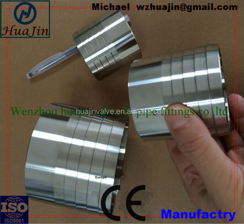 low price sanitary stainless steel welded to hose adaptor