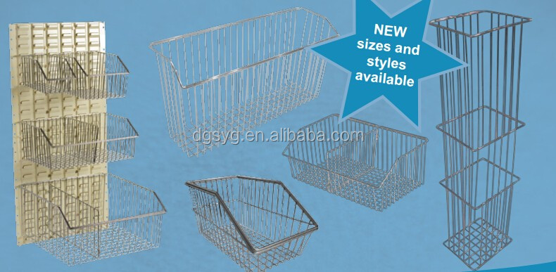 Small Metal Baskets for hospital/Chrome Wire Baskets/Wall Pannel Baskets