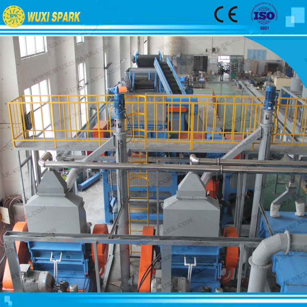 New style waste tyre recycling solution/ High speed granultation system at low price